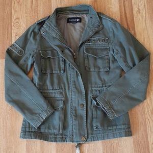 F21 Studded Army Jacket Grunge Goth Vibes